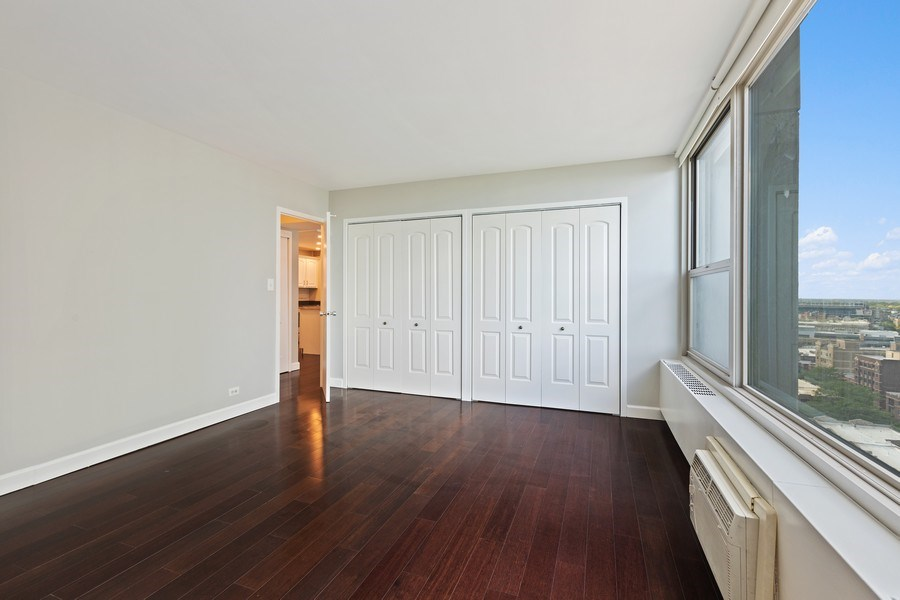 Real Estate Photography - 3600 N. Lake Shore Drive, Unit 1608, Chicago, IL, 60613 - Bedroom