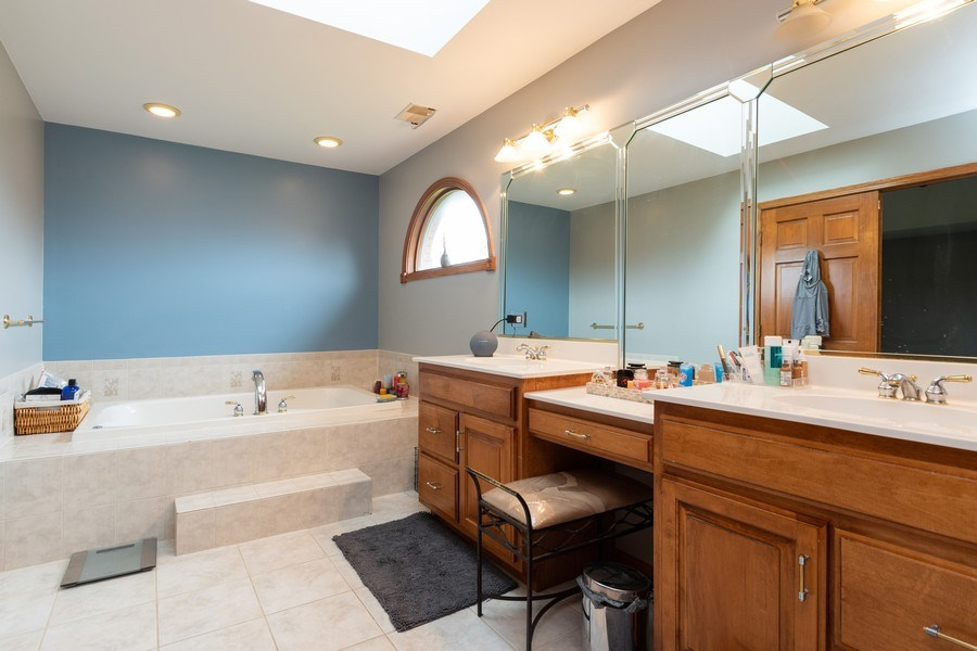 Real Estate Photography - 21212 Georgetown Road, Frankfort, IL, 60423 - Master Bathroom