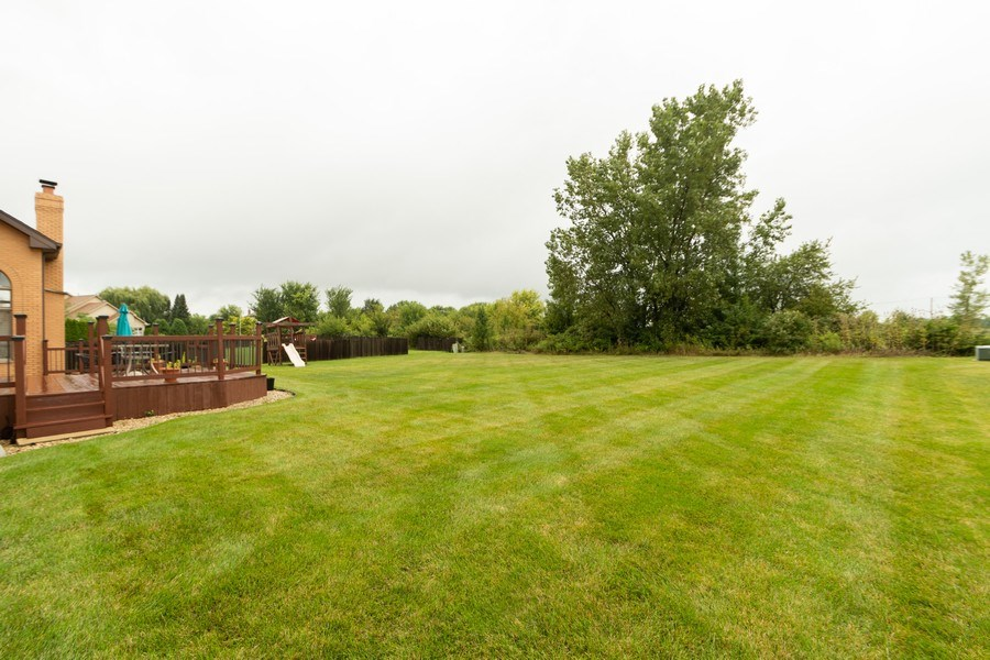 Real Estate Photography - 21212 Georgetown Road, Frankfort, IL, 60423 - Back Yard