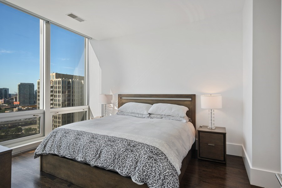 Real Estate Photography - 500 w superior, #1609, chicago, IL, 60654 - Master Bedroom
