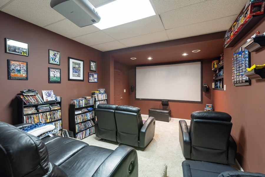 Real Estate Photography - 1500 Gander Ct, Crystal Lake, IL, 60014 - Theater
