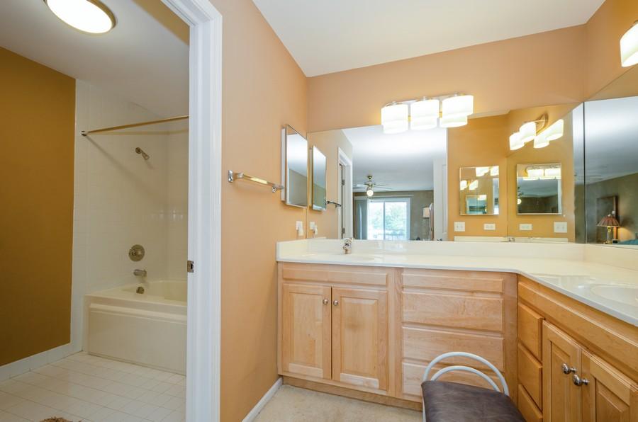 Real Estate Photography - 4757 W Howard, Unit 207, Skokie, IL, 60077 - Master Bathroom