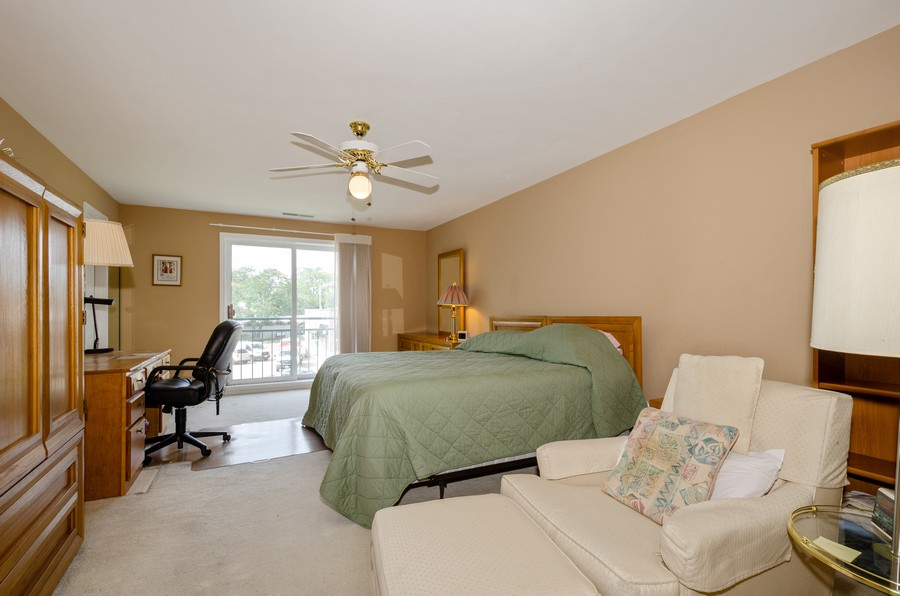 Real Estate Photography - 4757 W Howard, Unit 207, Skokie, IL, 60077 - Master Bedroom