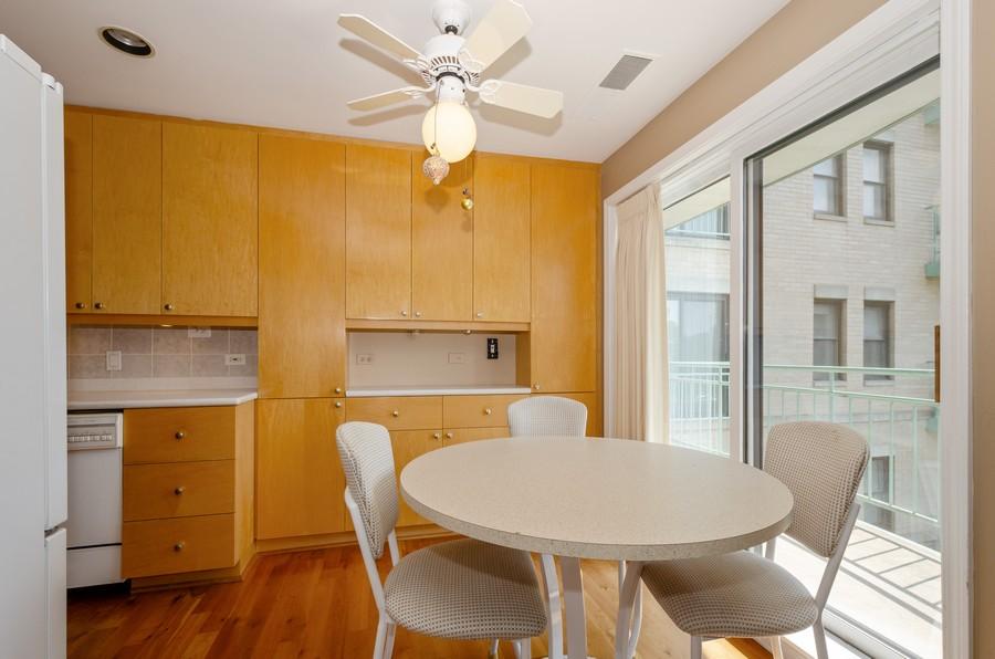 Real Estate Photography - 4757 W Howard, Unit 207, Skokie, IL, 60077 - Breakfast Area