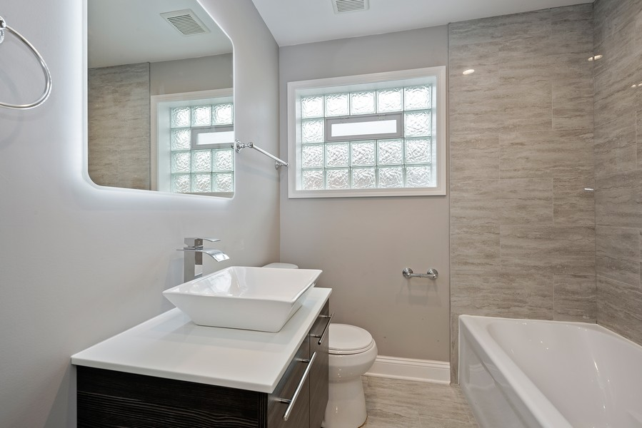 Real Estate Photography - 9043 Jeffery, Chicago, IL, 60617 - Bathroom