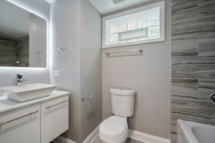 Real Estate Photography - 9043 Jeffery, Chicago, IL, 60617 - 2nd Bathroom