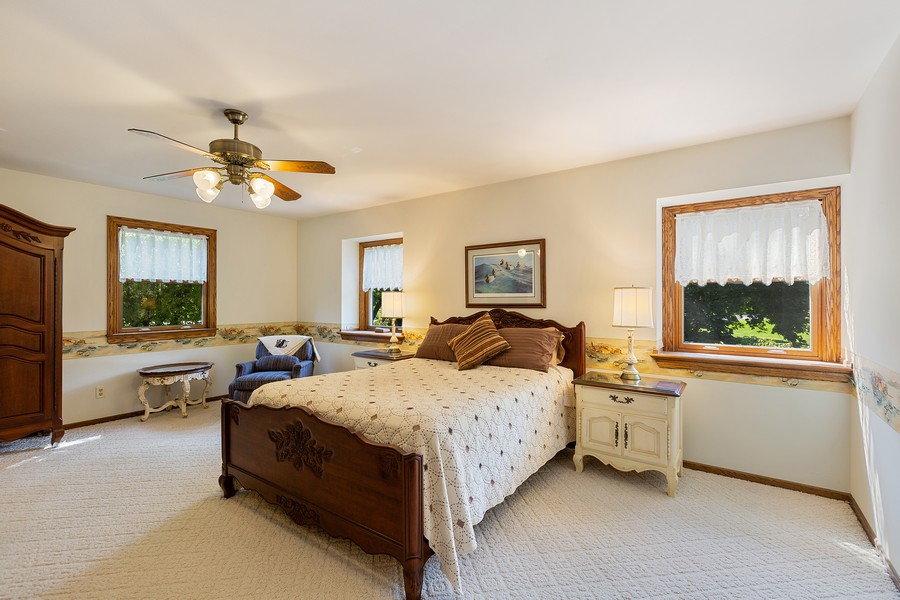 Real Estate Photography - 7350 Great Hill Rd, Crystal Lake, IL, 60012 - Master Bedroom