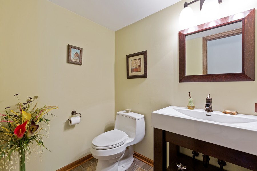 Real Estate Photography - 7350 Great Hill Rd, Crystal Lake, IL, 60012 - Powder Room