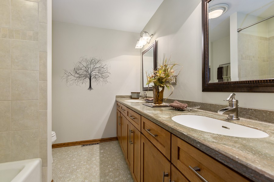 Real Estate Photography - 7350 Great Hill Rd, Crystal Lake, IL, 60012 - 2nd Bathroom