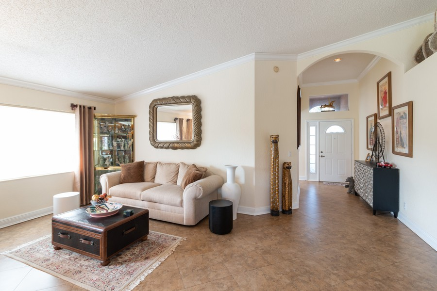 Real Estate Photography - 18336 Coral Chase Drive, Boca Raton, FL, 33498 - Living Room
