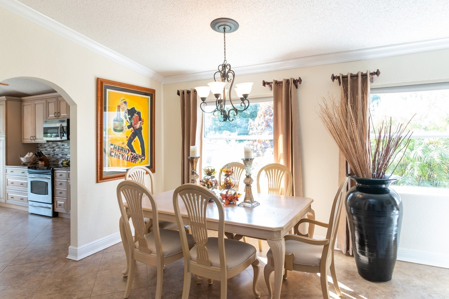 Real Estate Photography - 18336 Coral Chase Drive, Boca Raton, FL, 33498 - Dining Room