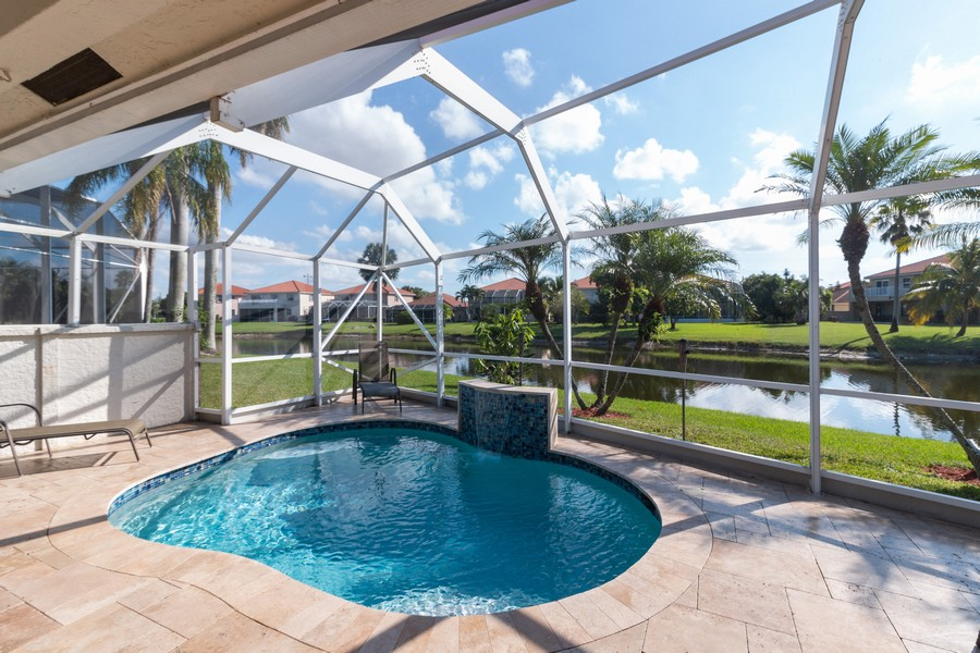 Real Estate Photography - 18336 Coral Chase Drive, Boca Raton, FL, 33498 - Pool