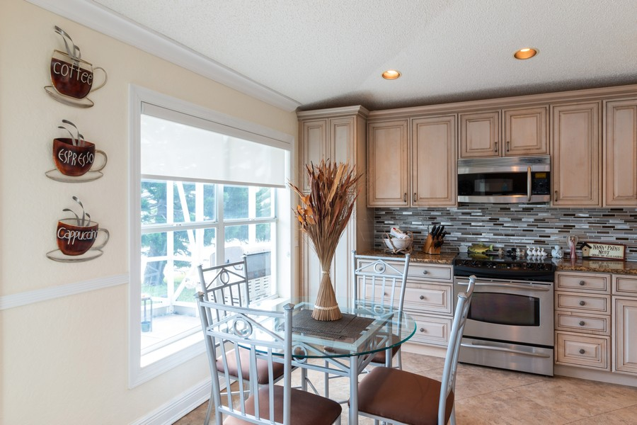 Real Estate Photography - 18336 Coral Chase Drive, Boca Raton, FL, 33498 - Breakfast Area