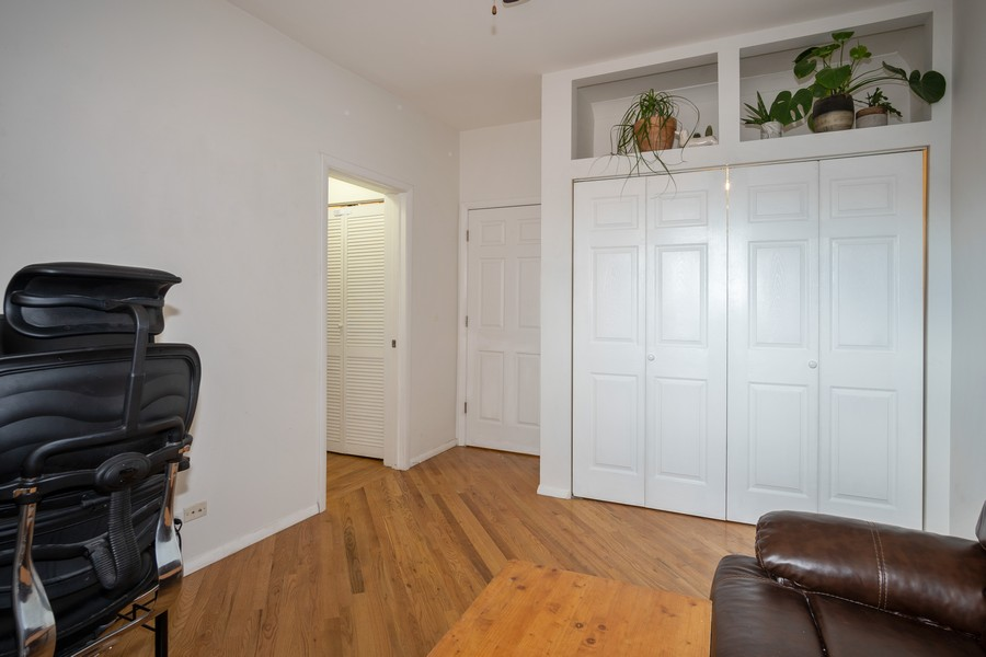 Real Estate Photography - 3949 N Saint Louis Ave, Unit 2, Chicago, IL, 60618 - 2nd Bedroom