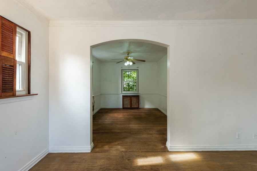 Real Estate Photography - 80-42 208th St, Queens Village, NY, 11427 - Living Room -View into Dining Room