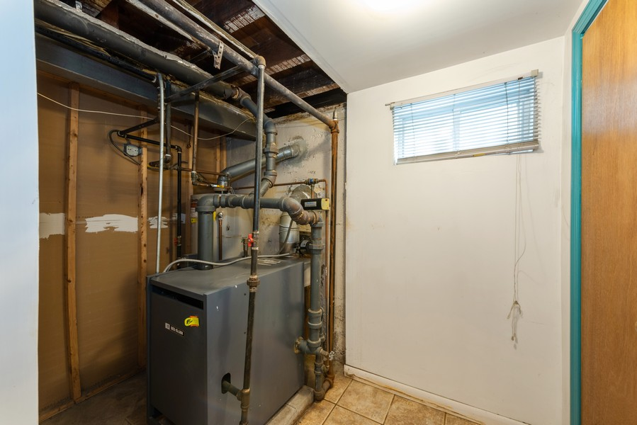 Real Estate Photography - 80-42 208th St, Queens Village, NY, 11427 - Utilities - Gas Heat/HW - Basement