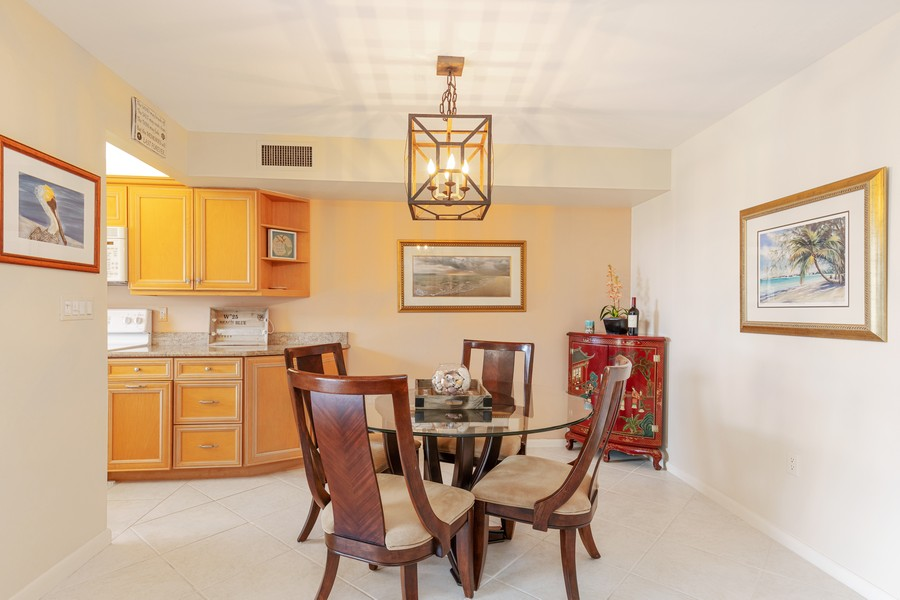 Real Estate Photography - 25730 Hickory Blvd #536, Bonita Springs, FL, 34134 - Dining Area