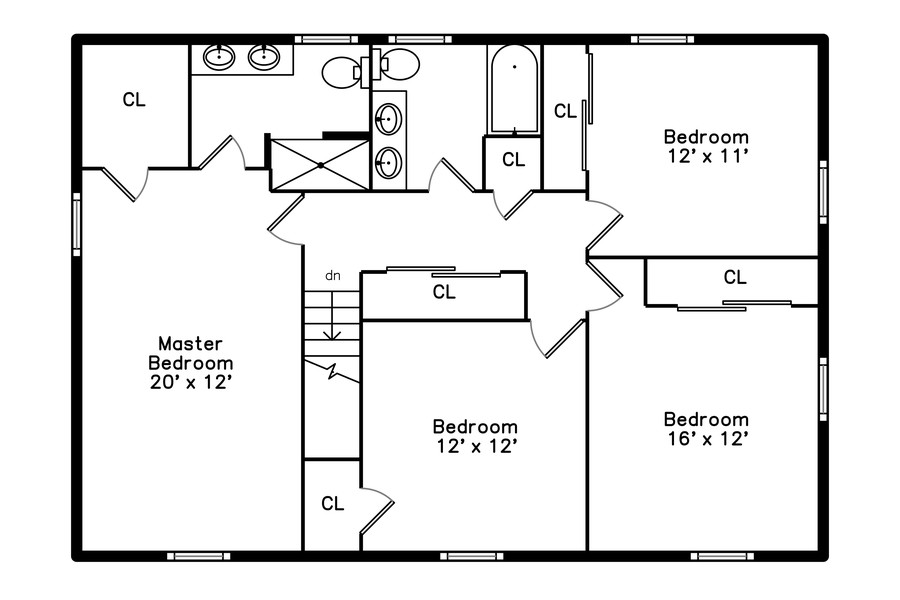 Real Estate Photography - 1560 Chapel Ct, Deerfield, IL, 60015 - Floor Plan Upper Level