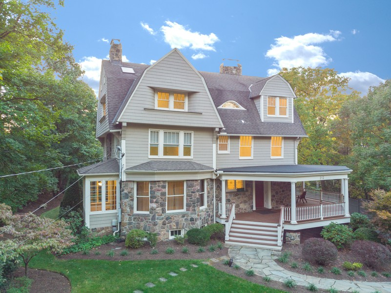 Real Estate Photography - 212 Summit Ave, Summit, NJ, 07901 - Aerial View