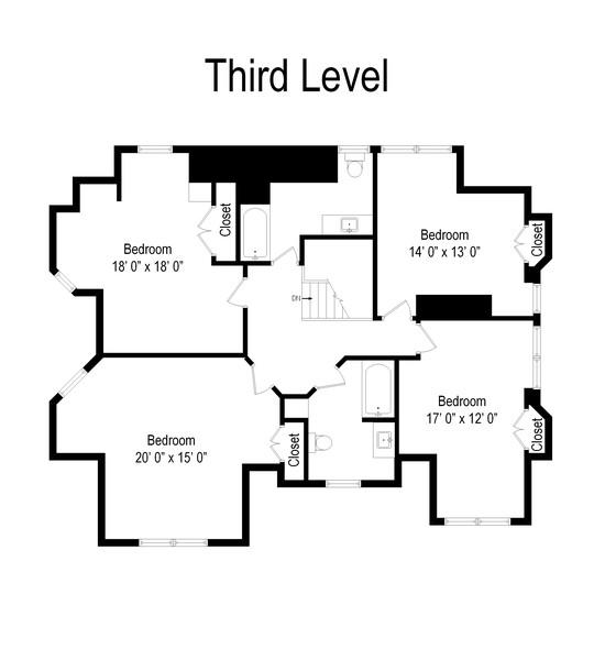 Real Estate Photography - 212 Summit Ave, Summit, NJ, 07901 - Floor Plan
