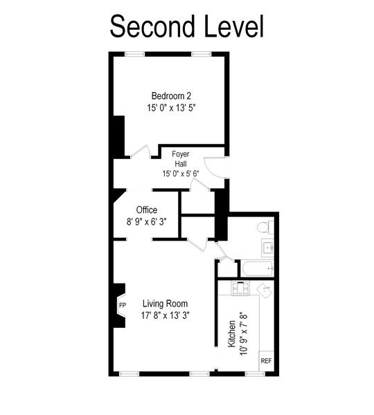 Real Estate Photography - 76 Sussex St., Jersey City, NJ, 07302 - Floor Plan