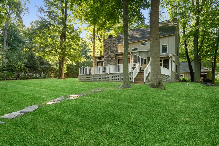 Real Estate Photography - 27 Orchard Lane, Buchanan, MI, 49107 - Lakefront Back Yard