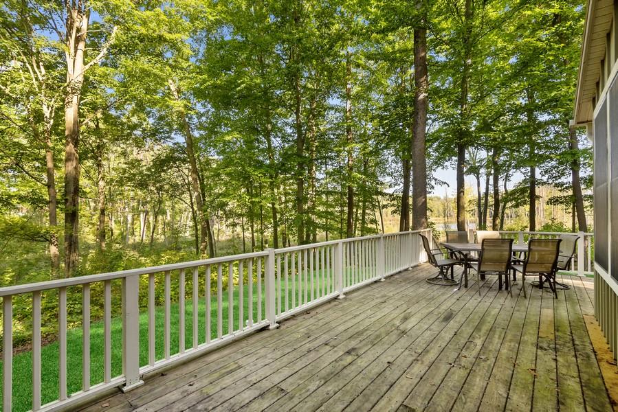 Real Estate Photography - 27 Orchard Lane, Buchanan, MI, 49107 - Back Deck