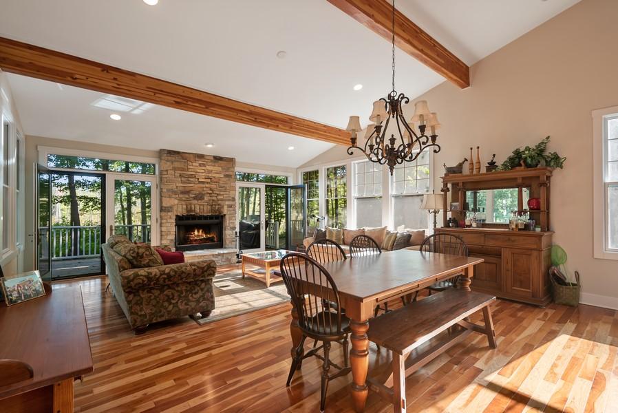 Real Estate Photography - 27 Orchard Lane, Buchanan, MI, 49107 - Living Room / Dining Room