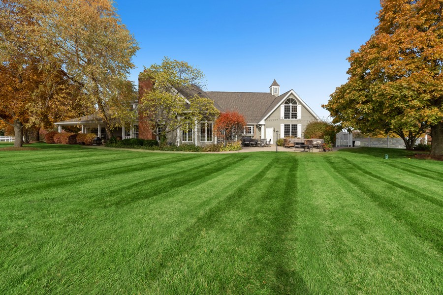 Real Estate Photography - 17199 Yearing Lane, Wadsworth, IL, 60083 - Rear View