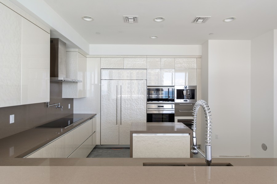 Real Estate Photography - 17475 Collins Ave, Unit 1501, Sunny Isles Beach, FL, 33160 - Kitchen