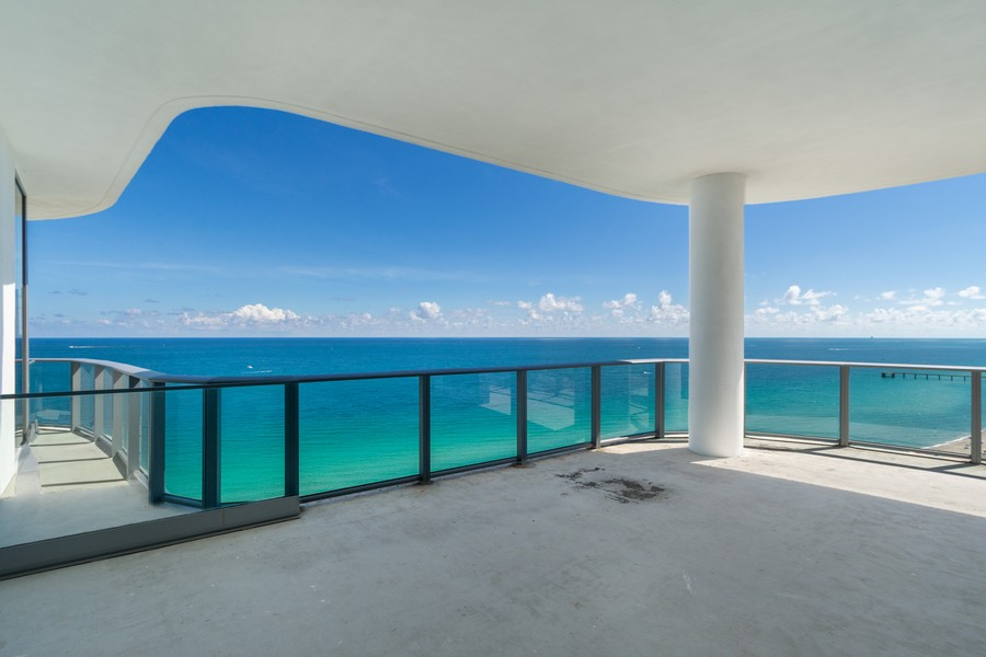 Real Estate Photography - 17475 Collins Ave, Unit 1501, Sunny Isles Beach, FL, 33160 - Oceanfront Terrace
