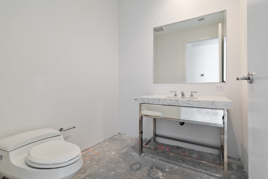 Real Estate Photography - 17475 Collins Ave, Unit 1501, Sunny Isles Beach, FL, 33160 - Powder Room