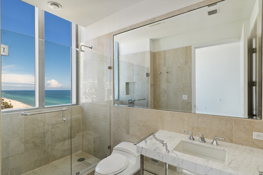 Real Estate Photography - 17475 Collins Ave, Unit 1501, Sunny Isles Beach, FL, 33160 - 3rd Bathroom