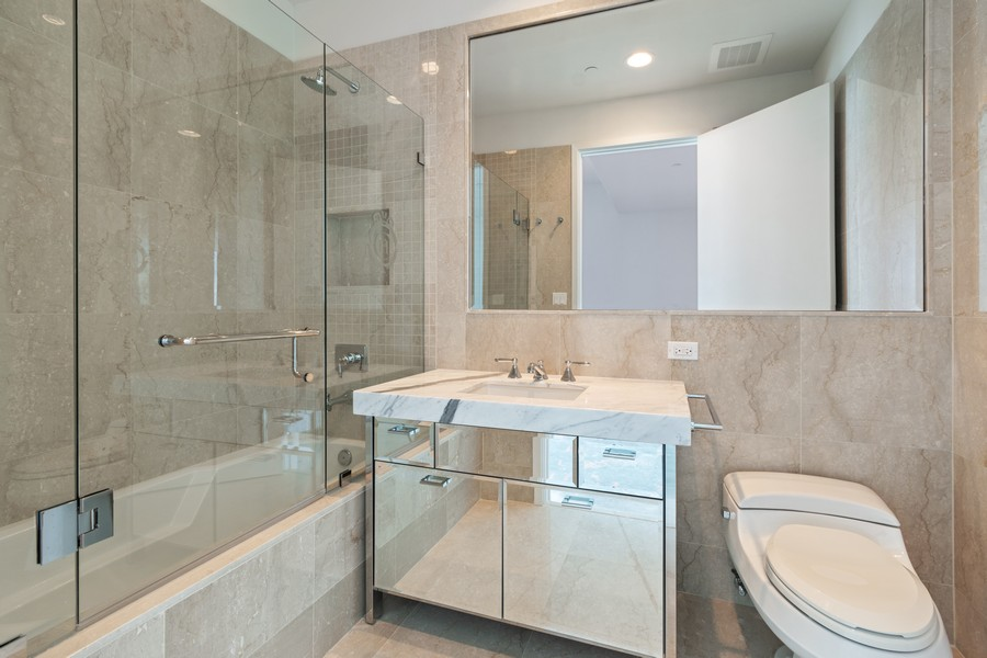 Real Estate Photography - 17475 Collins Ave, Unit 1501, Sunny Isles Beach, FL, 33160 - 2nd Bathroom