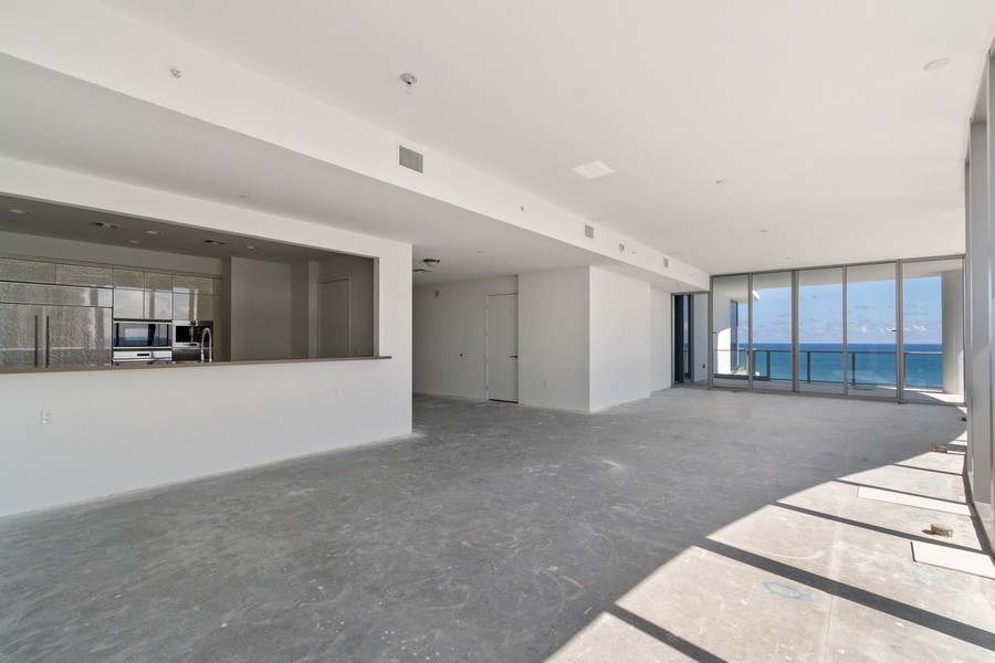 Real Estate Photography - 17475 Collins Ave, Unit 1501, Sunny Isles Beach, FL, 33160 - Kitchen / Living Room