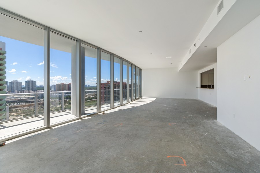 Real Estate Photography - 17475 Collins Ave, Unit 1501, Sunny Isles Beach, FL, 33160 - Living Room / Dining Room
