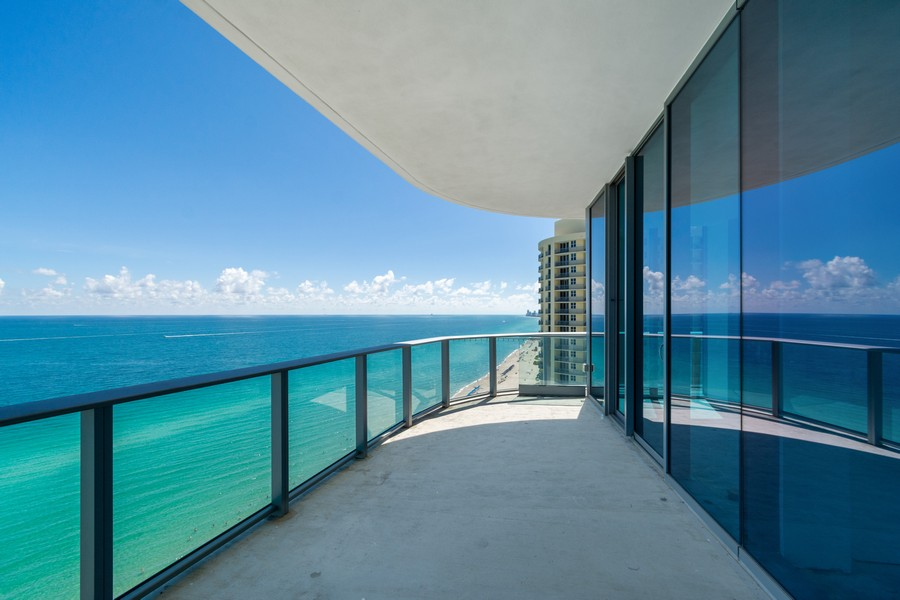 Real Estate Photography - 17475 Collins Ave, Unit 1501, Sunny Isles Beach, FL, 33160 - Balcony
