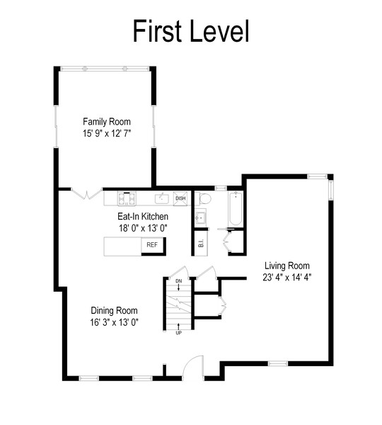 Real Estate Photography - 1679 Fenimore Rd, Hewlett, NY, 11557 - Floor Plan