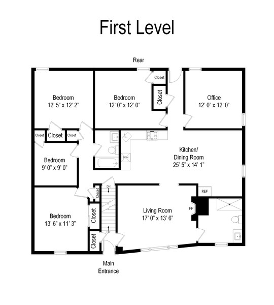 Real Estate Photography - 2368 Amherst, East Meadow, NY, 11554 - Floor Plan