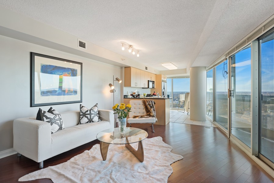 Real Estate Photography - 1720 Maple, Unit 2660, Evanston, IL, 60201 - Living Room