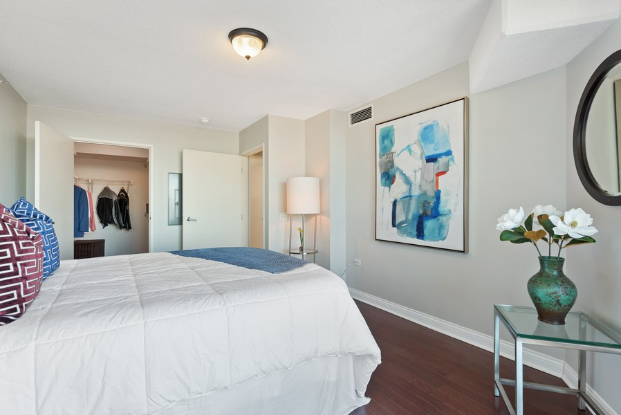 Real Estate Photography - 1720 Maple, Unit 2660, Evanston, IL, 60201 - Bedroom