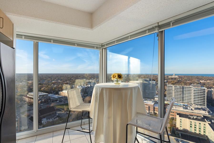 Real Estate Photography - 1720 Maple, Unit 2660, Evanston, IL, 60201 - Breakfast Area