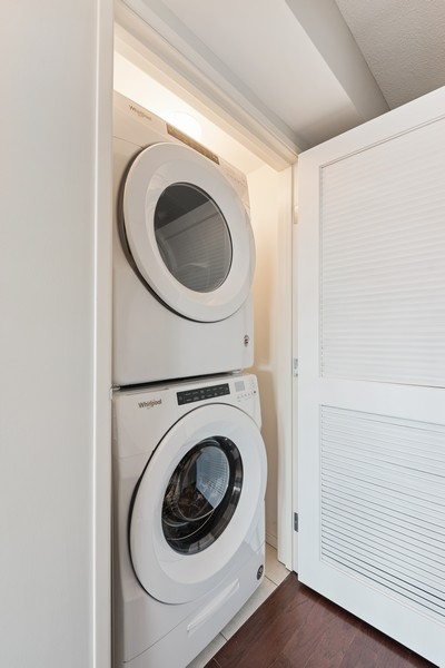 Real Estate Photography - 1720 Maple, Unit 2660, Evanston, IL, 60201 - Laundry Room