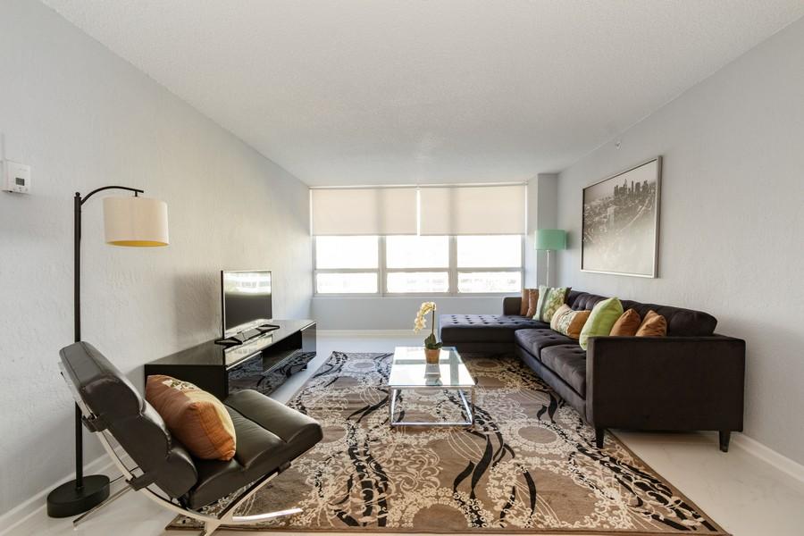 Real Estate Photography - 1500 Bay Road apt 654S, Miami Beach, FL, 33139 - Living Room