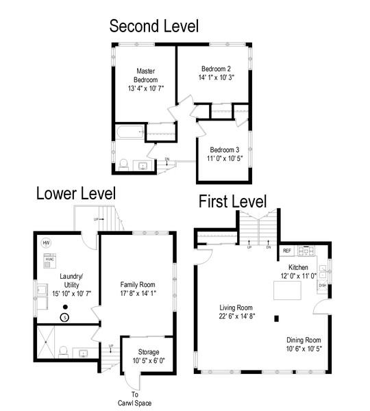 Real Estate Photography - 3534 Arcadia St, Evanston, IL, 60203 - Floor Plan