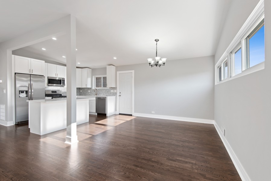 Real Estate Photography - 3534 Arcadia St, Evanston, IL, 60203 - Kitchen / Dining Room