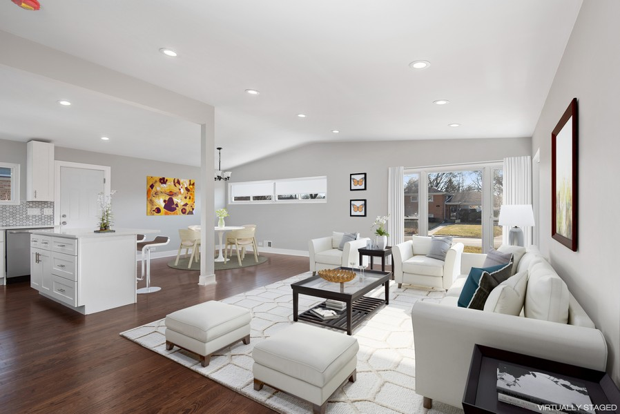 Real Estate Photography - 3534 Arcadia St, Evanston, IL, 60203 - Living Room / Dining Room