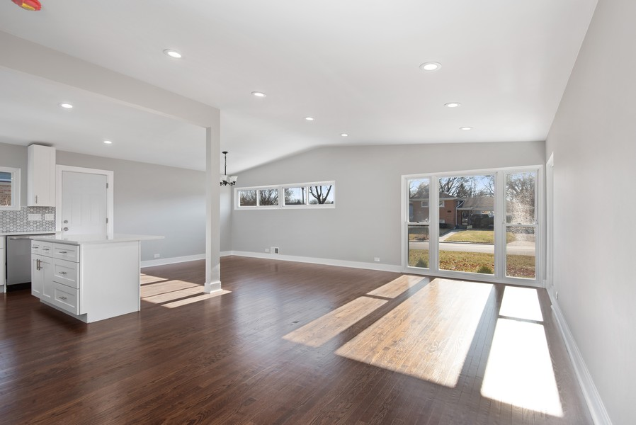 Real Estate Photography - 3534 Arcadia St, Evanston, IL, 60203 - Living Room/Dining Room
