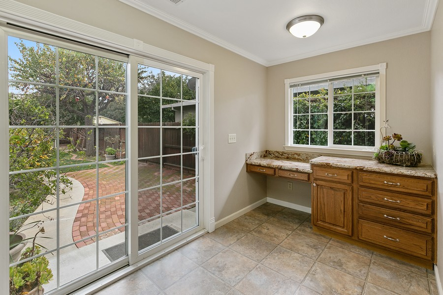 Real Estate Photography - 554 Menker, San Jose, CA, 95128 - Kitchen Desk