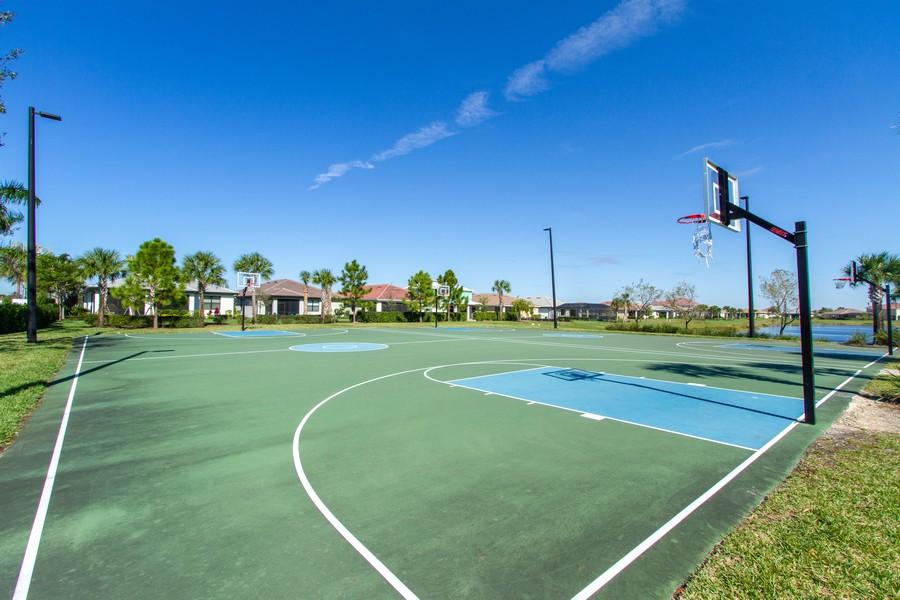Real Estate Photography - 2099 Sagebrush Cir, Naples, FL, 34120 - Basketball Courts